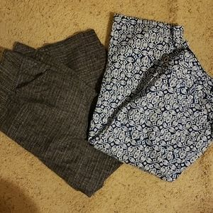 2 pairs of size 16W capris